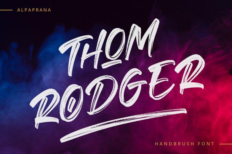Thom Rodger Brush Font