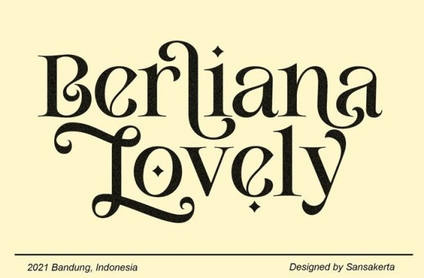 Berliana Lovely Font