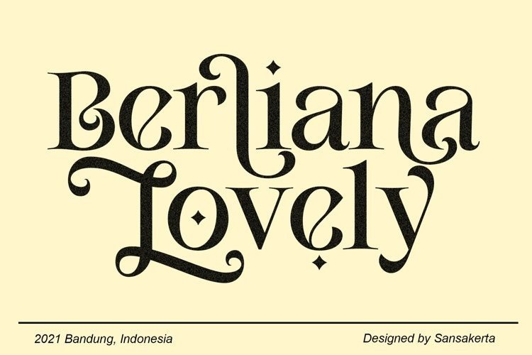berliana-lovely font