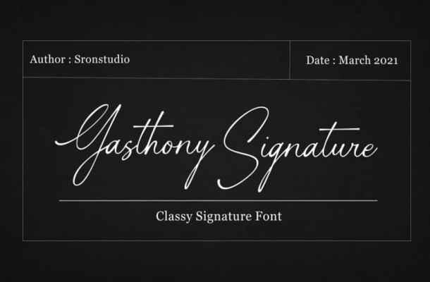 Gasthony Signature Font