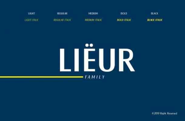 Lieur Font