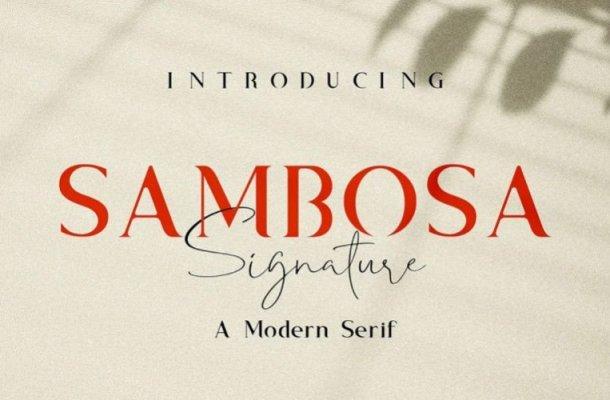 Sambosa Font