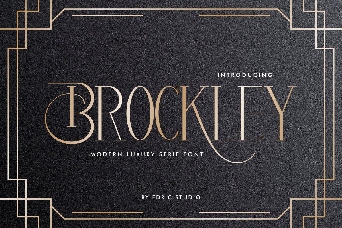 Brockley-Luxury-Serif-Font