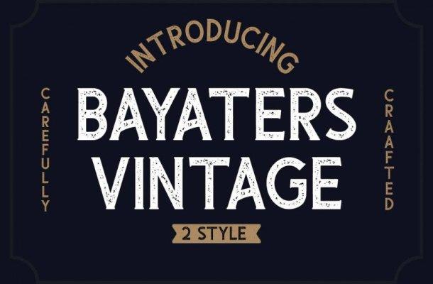 Bayaters Font