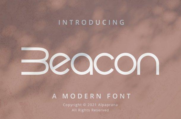 Beacon Display Font