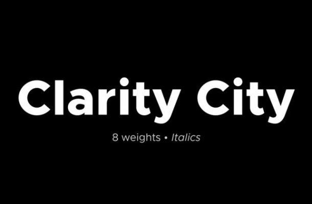 Clarity City Font Family