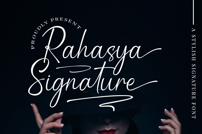 Rahasya-Signature-Font