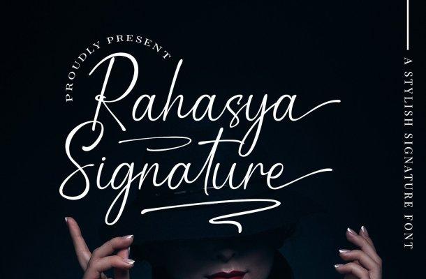 Rahasya Signature Font