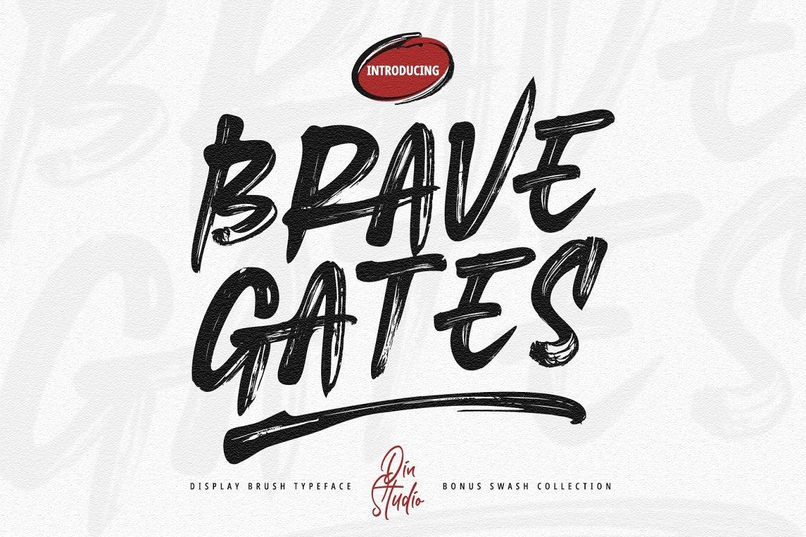 Brave Gates Font