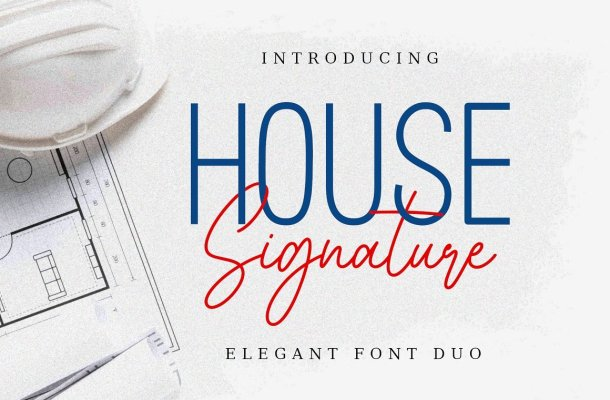 House Signature Font Duo