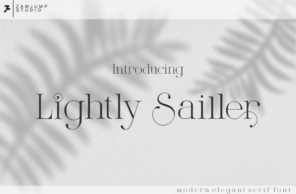 Lightly Sailler Font