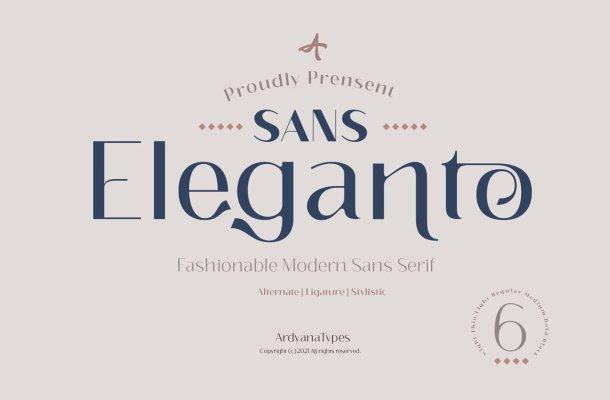 Eleganto Sans Font