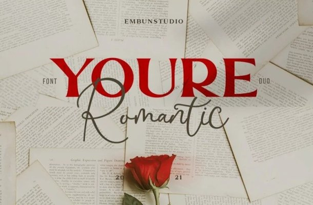Youre Romantic Font Duo