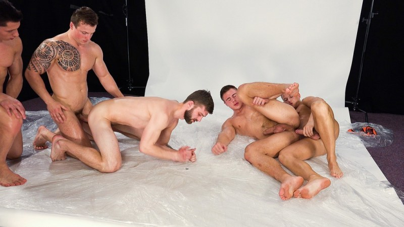 Five Hot Guys Fuck Raw 01