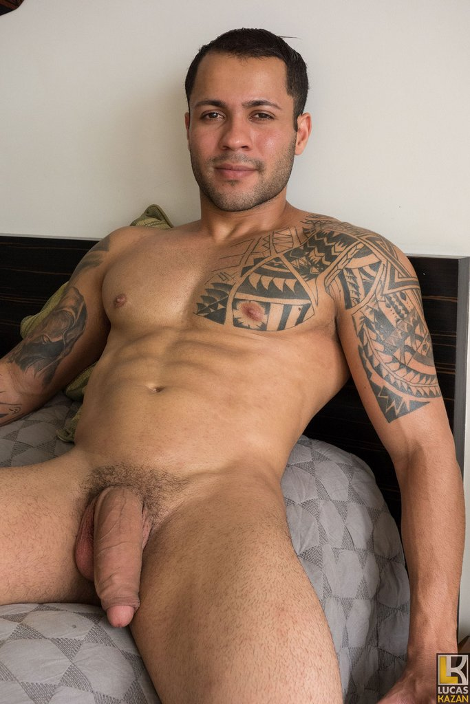 Sexy Brazilian Jerks His Huge Dick 08