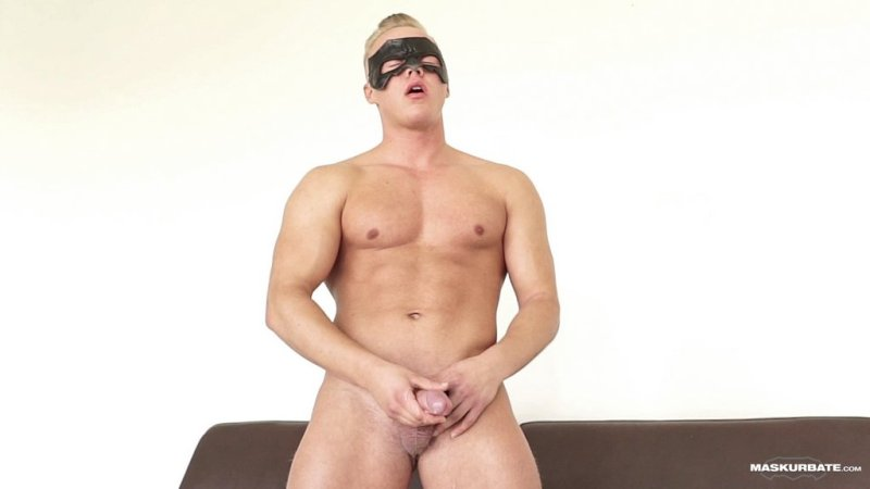 Blond Hunk Jerks his Uncut Cock 09