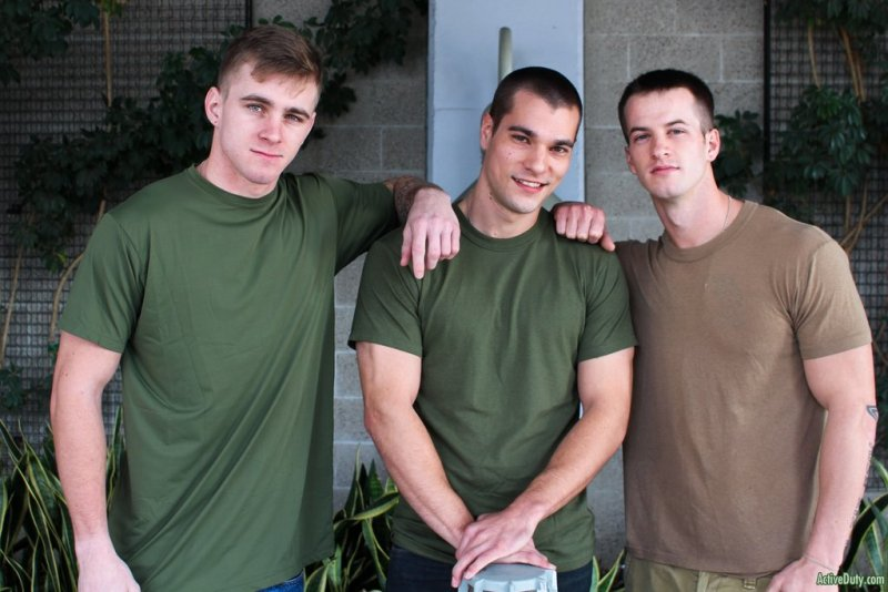 Three Hot Military Guys Fuck Raw 02