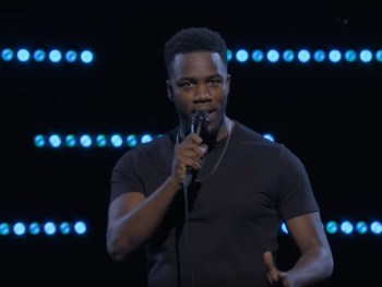 Mo the Comedian doing stand up comedy on Netflix