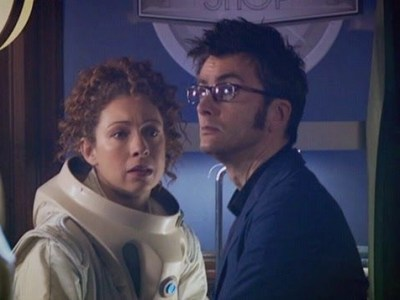 The Tenth Doctor and River Song