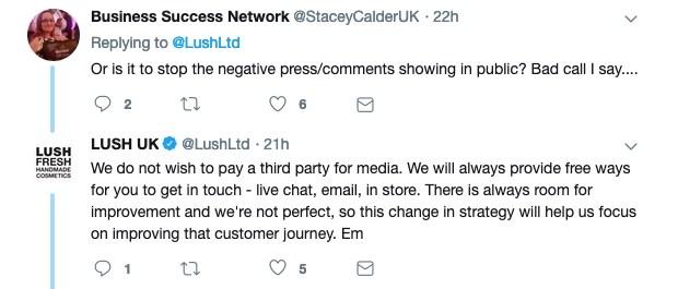 Lush quits social media in UK