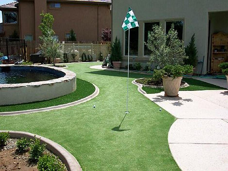 Artificial Grass Carpet Hesperia, California Backyard Deck ... on Turf Backyard Ideas id=76272