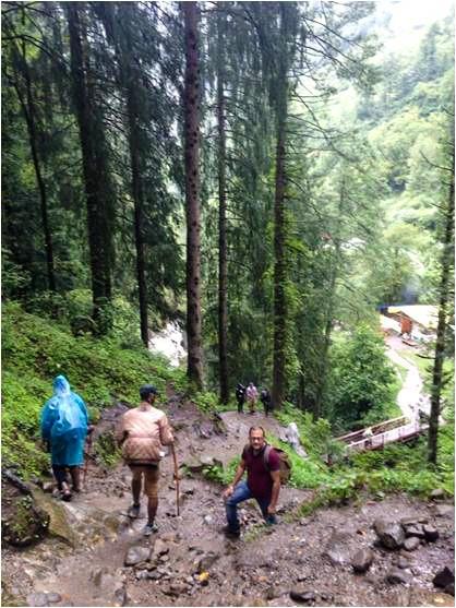 Trail After Rudra Naag bridge, Hike to Hot Water Spring Kheerganga, Himachal; Pradesh