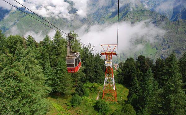 Auli Ropeway Gandola Cable Car - Auli in Summers