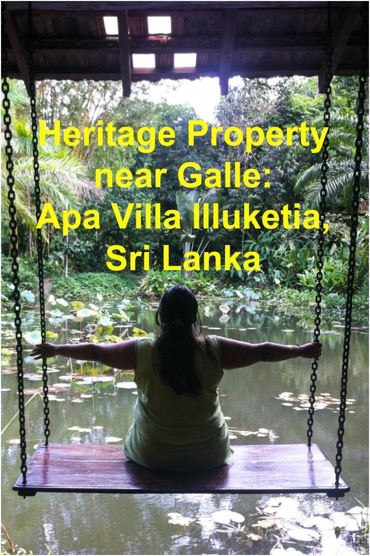 Heritage Property near Galle: Apa Villa Illuketia, Sri Lanka