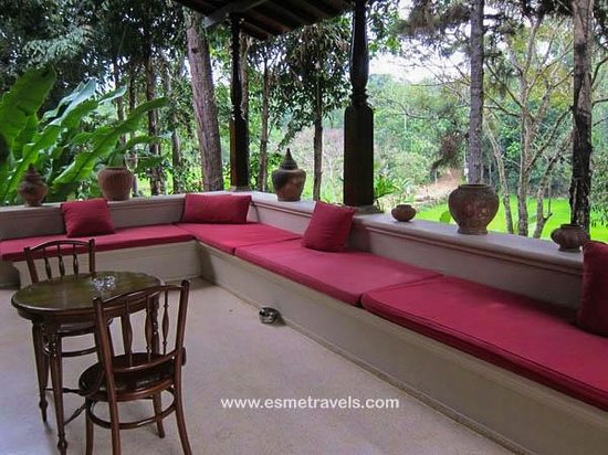 The side seatings in Verandhas of Apa Villa Illuketia, Sri Lanka