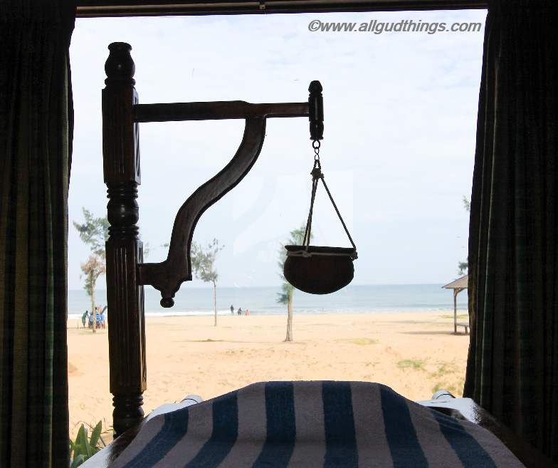 View from Ayurvedic Spa Room of Chariot Beach Resort Mahabalipuram
