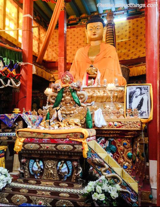 Lord Buddha Statue in Hemis Monastery Temple