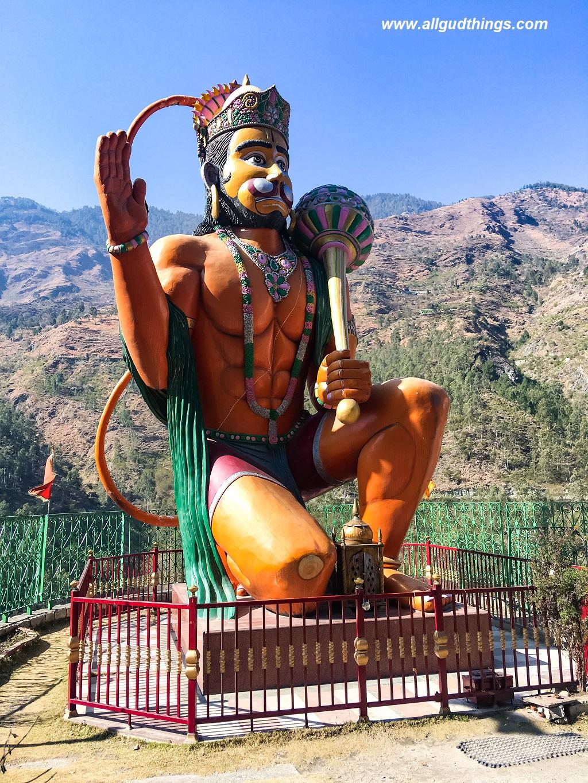 Lord Hanuman statue at Rampur Bushahr: Padam Palace