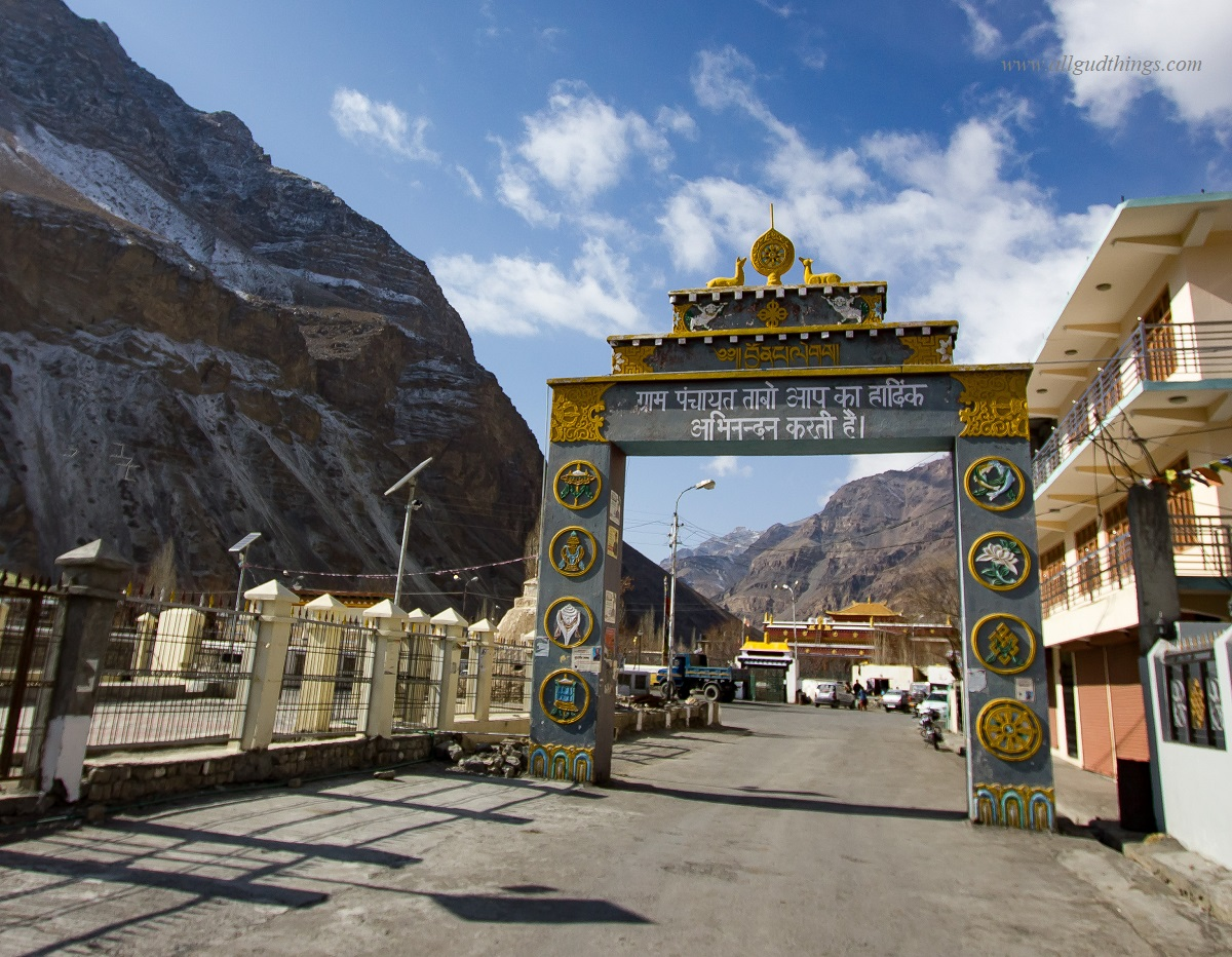 Entrance of village Tabo in Spiti Valley
