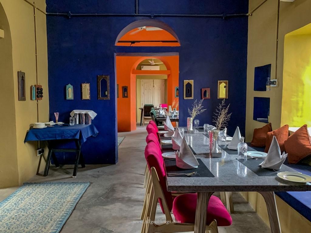 Inside NACL Restaurant at Sambhar Heritage Resort
