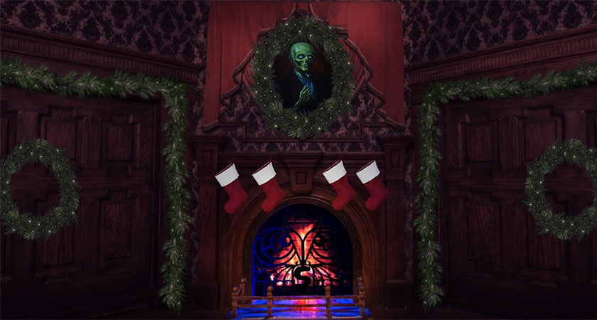 Open Presents To The Glow Of This Haunted Mansion Inspired Yule Log All Hallows Geek