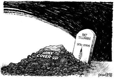 Pat Tillman, cartoon