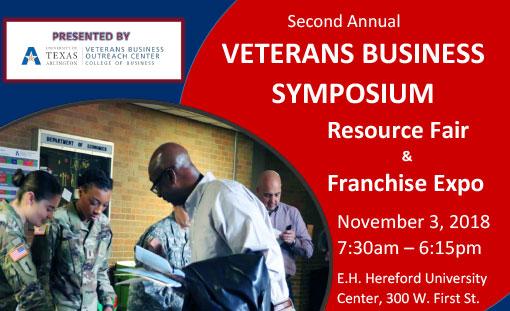 Veterans Business Symposium Resource Fair & Franchise Expo