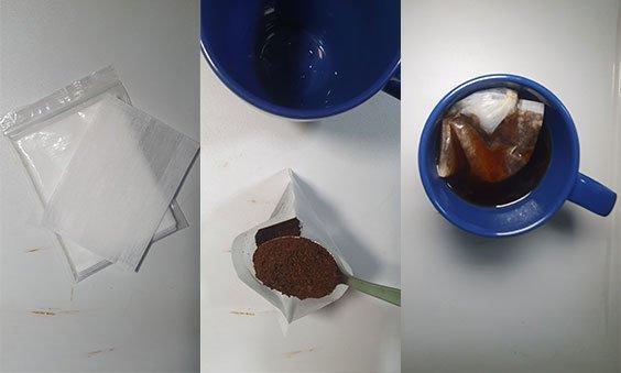 make kopi with coffee bag