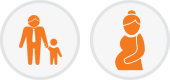 Paternity and Prenatal DNA Testing Icons