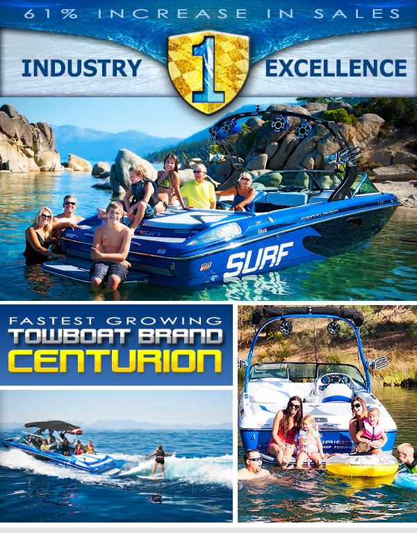 CENTURION IS THE FASTEST GROWING AMONG TOWBOAT BRANDS ...