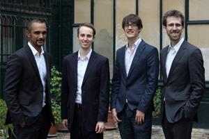 Les quatre associés d'Heuritech. © Ursine Schmitt