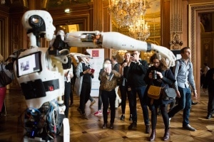 Avec son robot la start-up Inmoov a fait sensation © S. Robichon, H.Garat, JB. Gurliat