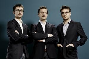 De gauche à droite  Antoine Durieux CEO, Benoit Portoleau-Balloy COO et Antoine Perrin CTO © Alkemics
