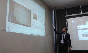 Marcel Saucet a présenté en avant-première à l'ESGCI son logiciel IA Learning. ©Célia Garcia-Montero