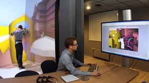 DCNS dispose de quatre salles de réalité virtuelle, dont l'une à Cherbourg. ©DCNS