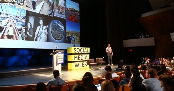 Keynote d'ouverture par Jim Squires lors de la Social Media Week 2016 de Los Angeles
