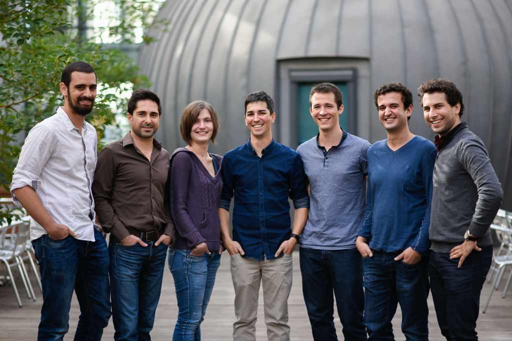L'équipe de Snapkin, fondée à Montpellier en août 2013 autour de Jérémy Guillaume et Damien Dous.