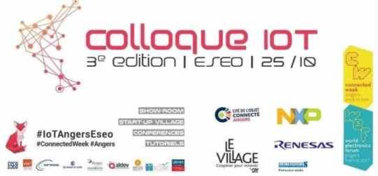3ème édition du Colloque IoT de l'ESEO le 25-10-17