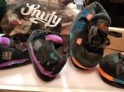 Snufy s'est inspiré des baskets pour imaginer des chaussons.