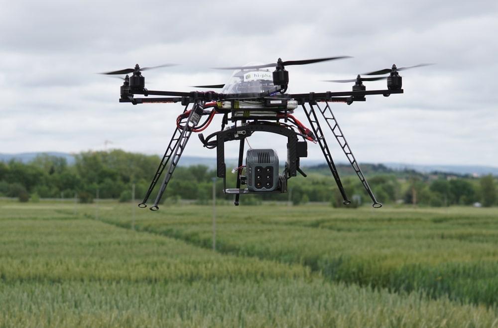 Les drones d'Hi-Phen analyse les caractéristiques des plantes. ©DR